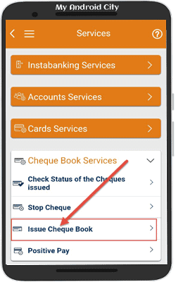 send-icici-bank-cheque-book-request-on-mobile